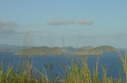 BVIs - Peter Island East towards Salt, Cooper, Ginger Isl