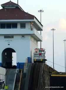 Gatun Lock Building and mule