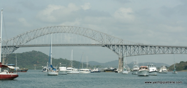 Balboa YC with Bridge of the Americas