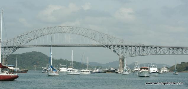 Balboa YC with Bridge of the Americas