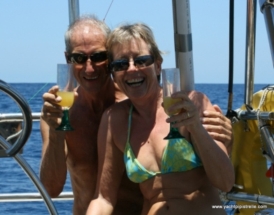 Celebrating our first Equator crossing - Pacific 2011