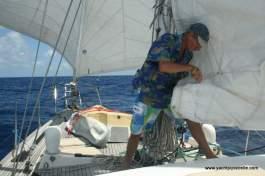 Sail repair at sea!