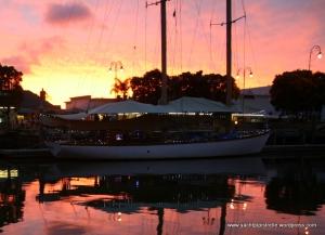 Whangarei Town Basin at sunset