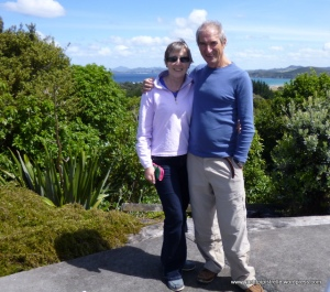 Us with Whangarei in distance