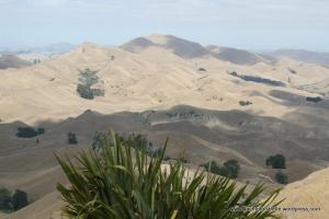 Parched, desert like landscape