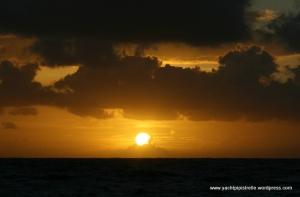 Sunrise on passage