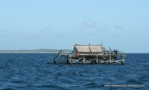 Indonesian fishing float - normally unlit at night!