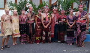 Group photo in regional Ikat clothing