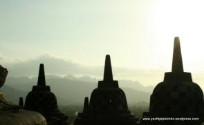Stupas at Borobodur
