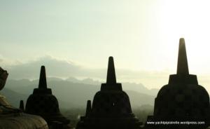 Dreaming stupas - Borobudur