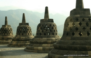 Bell shaped stupas