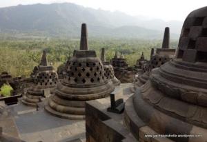 Stupas at Borobudur - Oct 2013