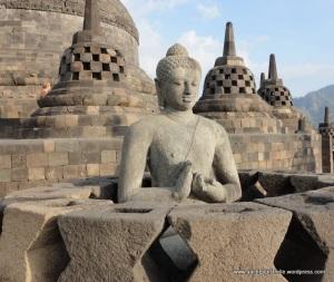 Buddha in stupa