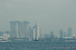 Marina Bay Sands Hotel - seaward view