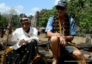 Bob with 98 year-old village elder