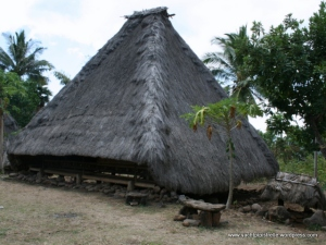 Traditional thatched house near Riung, Flores