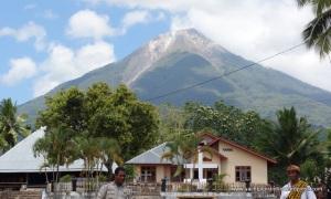 Volcanic backdrop