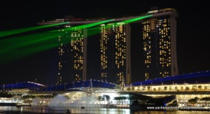 Marina Bay Sands Hotel and laser show - Singapore