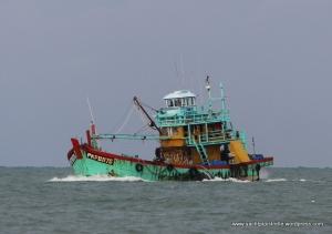 Fishing boat in Malacca Strait
