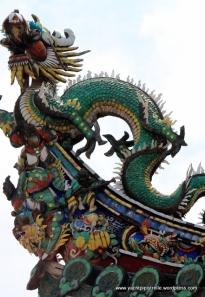 Intricate external roof sculpture