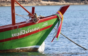 Thai fishing boat on mooring