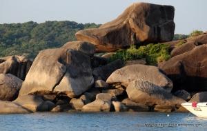 Rock resembling Donald Duck's beak ...