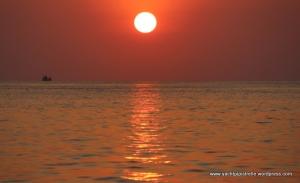 Setting sun ...