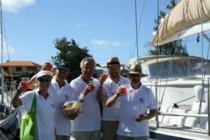 Landed - rum punch at Rodney Bay!