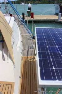 Solar panel in place and functioning