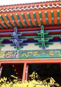 Detail of painted roof beams