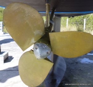 Propellor coated with 'Prop Gold'