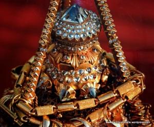 76 carat Diamond tip and jewel encrusted orb adorning Shwedagon