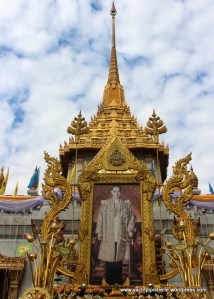 The Thai King is revered - his 87th birthday was 2 days after our visit and elaborate preparations were underway