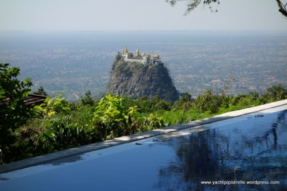 Mt Popa rising from the valley