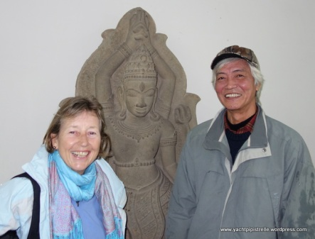 With one of hindu gods trinity - Shiva, Brahma or Vishnu?