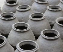 clay from river used for making urns
