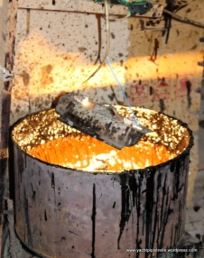 Sap changes from amber colour when heated ...