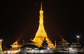 from hotel balcony - v similar to Shwedagon in Yangon