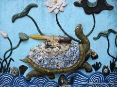 Giant turtle carrying magic sword