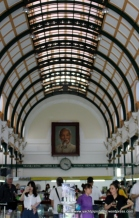 Interior arches complete with portrait of Ho Chi Minh