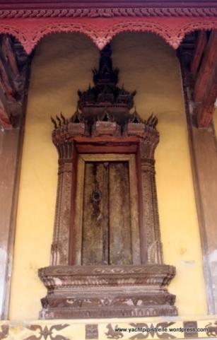Wooden door and ornate frame