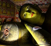 Reclining Buddha at Dambulla's Royal Rock Temple