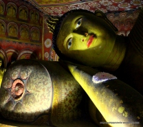 Reclining Buddha at Dambulla's Royal Rock Temple