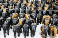 A herd of ebony elephants