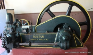 Ruston generator, built 1880, using 2 - 4 galls 'liquid fuel' per hour!
