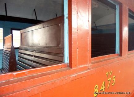 Wooden seats - no windows