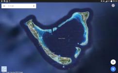 Heart shaped Addu Atoll