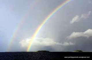 Stunning double rainbow