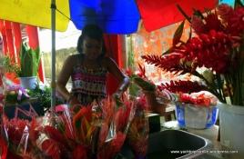 Flower girl at the market