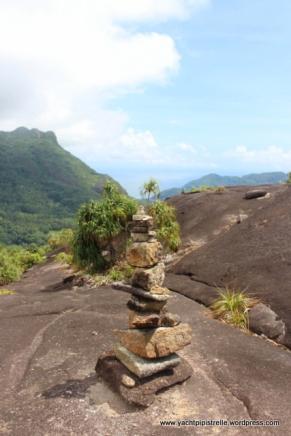 Cairn on granite 'summit'